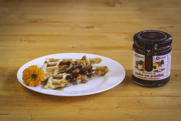 dulceata de caise cu pastai de vanilie si samburi