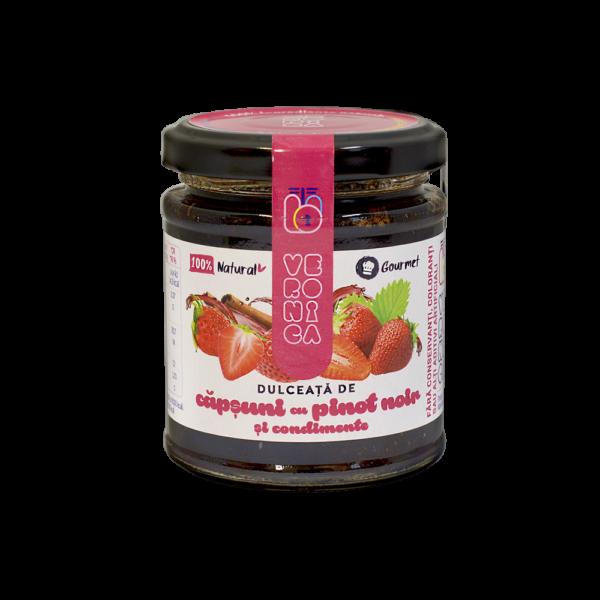 dulceata de capsuni cu pinot noir si condimente