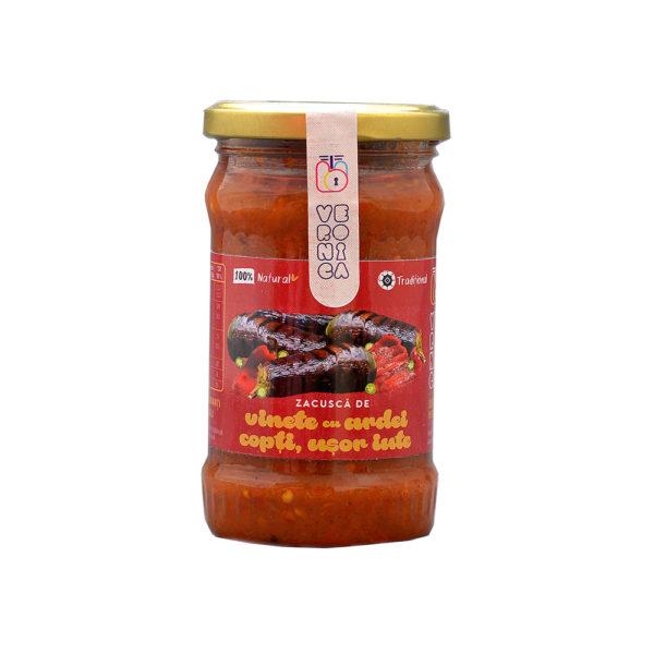 zacusca de vinete cu ardei copti